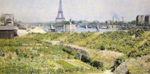 fermes urbaines, maraîchage, le long de la Seine, près de la tour Eiffel