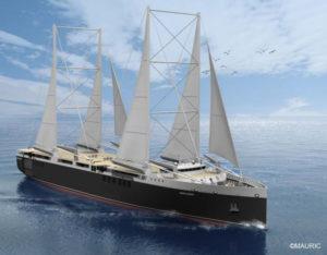 bateaux à propulsion vélique : le néoliner est muni de mâts installés en bord de pont