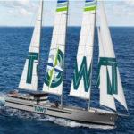 """un des projets de bateaux à voile, ici un 4 mats """"classique"""""""