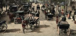Vue d'une rue de Paris avec problème de transports