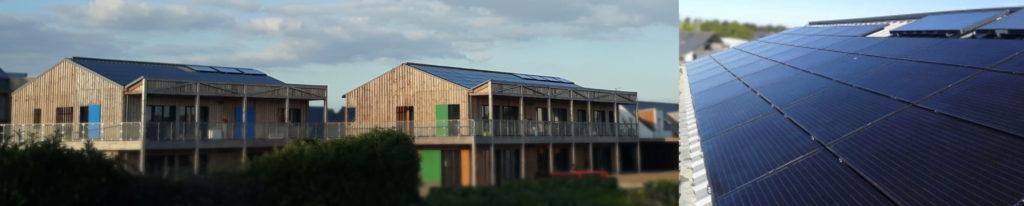 Autre exemple parmi les coopératives citoyennes d'énergie : la centrale photovoltaïque des P'tits Ensemble(s) à Guérande (département 44)